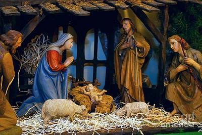 The Nativity Poster by Frank J Casella