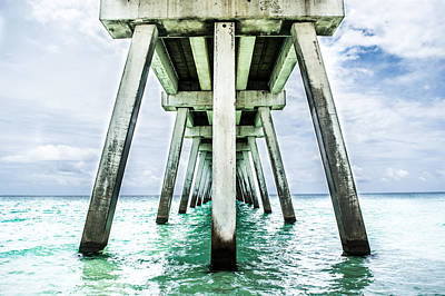 The Navarre Fishing Pier  Poster by Shelby  Young