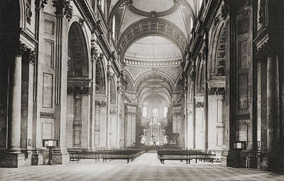 The Nave Of St. Paul S Cathedral Poster by Vintage Design Pics