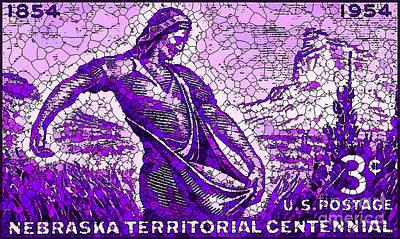The Nebraska Territory Stamp Poster
