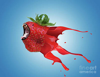 Poster featuring the photograph The New Gmo Strawberry by Juli Scalzi