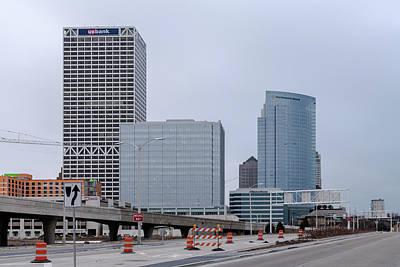 Poster featuring the photograph The New Milwaukee Skyline by Randy Scherkenbach