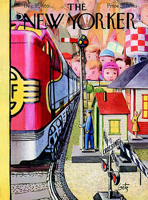 The New Yorker Cover - December 17th, 1955 Poster