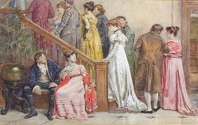 The Next Dance Poster by George Goodwin Kilburne