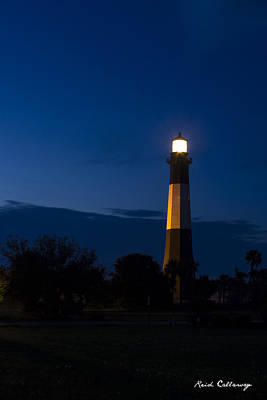 The Night Watcher Tybee Island Lighthouse Poster by Reid Callaway