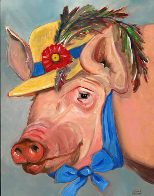 Poster featuring the painting The Noble Pig by Susan Thomas