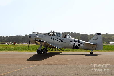 The North American T6 Texan Military Aircraft . 7d15782 Poster by Wingsdomain Art and Photography