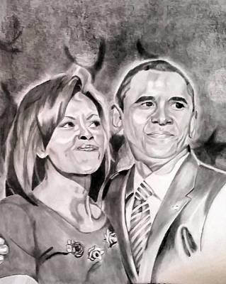The Obamas Poster by Nina Carpenter