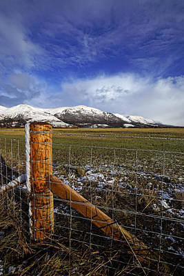Poster featuring the photograph The Ochils In Winter by Jeremy Lavender Photography