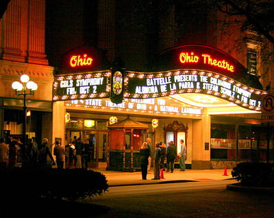 The Ohio Theater At Night Poster