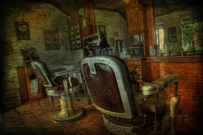 The Old Barbershop - Vintage - Nostalgia Poster