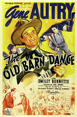 The Old Barn Dance 1938 Poster by Republic