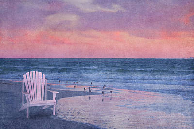 The Old Beach Chair Poster