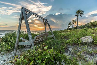 The Old Beach Swing -  Sullivan's Island, Sc Poster