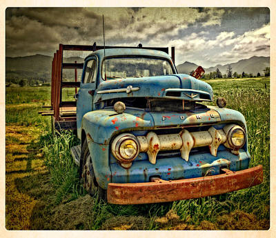 The Blue Classic 48 To 52 Ford Truck Poster