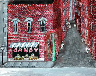The Old Brick Candy Store Poster