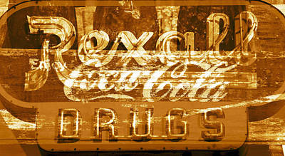 Poster featuring the photograph The Old Corner Drugstore by David Lee Thompson