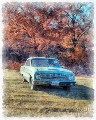 The Old Ford On The Side Of The Road Poster