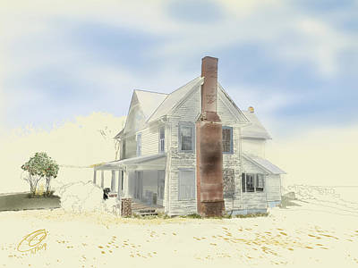 Poster featuring the painting The Home Place - Silent Eyes by Joel Deutsch