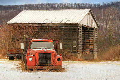 Poster featuring the photograph The Old Lumber Truck by Lori Deiter