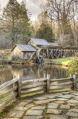 The Old Mabry Mill - Blue Ridge Parkway - Virginia Poster by Gregory Ballos