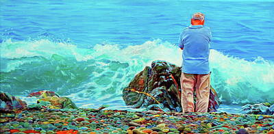 The Old Man And The Sea Poster by Kelly McNeil