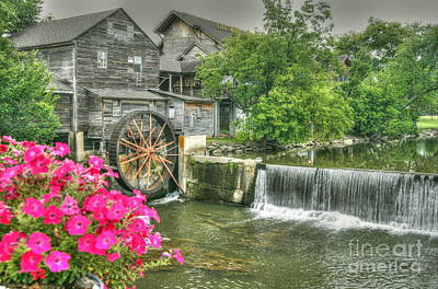 The Old Mill Poster by Myrna Bradshaw