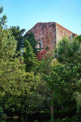 The Old Monastery Of Escornalbou Surrounded By Trees In Spain Poster