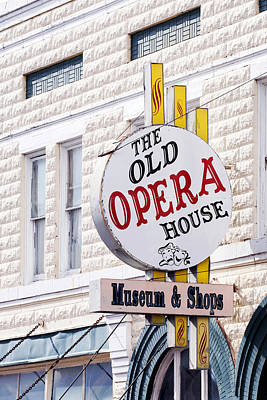 The Old Opera House Sign Color Arcadia Florida Usa Poster by Sally Rockefeller