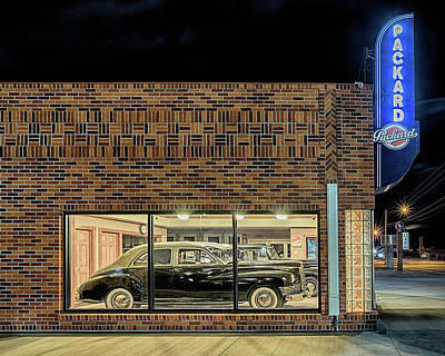 The Old Packard Dealership Poster