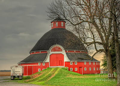 The Old Round Barn Of Ohio Poster by Pamela Baker