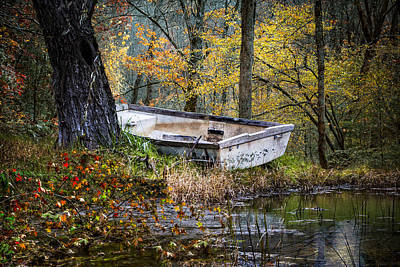 The Old Rowboat Poster by Debra and Dave Vanderlaan