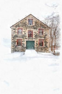 The Old Stone Barn Enfield New Hampshire Poster by Edward Fielding
