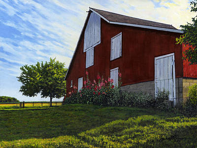 The Old Stucco Barn Poster