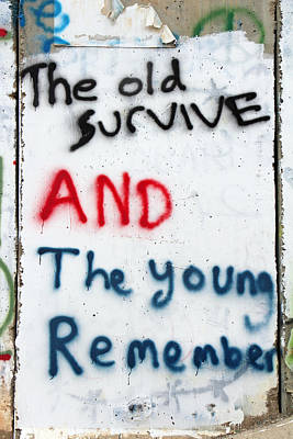 The Old Survive Poster by Munir Alawi