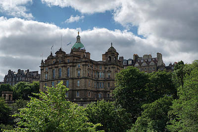 Poster featuring the photograph The Old Town In Edinburgh by Jeremy Lavender Photography