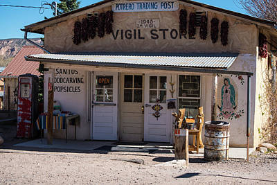Old Vigil Store In Chimayo Poster