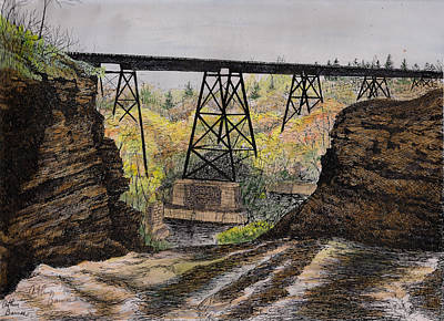 The Old Waterport Trestle Poster by Arthur Barnes