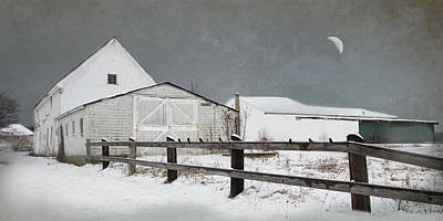 The Old White Barn Poster by Robin-Lee Vieira