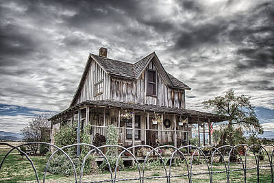 The Old Wood House Rogue Valley Oregon Poster