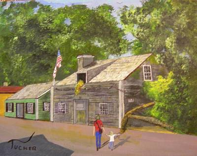 The Oldest Wooden School House Poster by David Earl Tucker