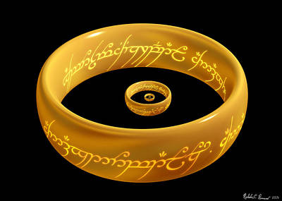 The One Ring Droste Poster by Nicholas Romano