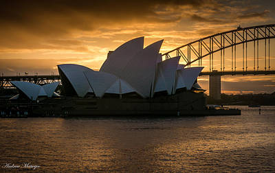 Poster featuring the photograph The Opera House by Andrew Matwijec