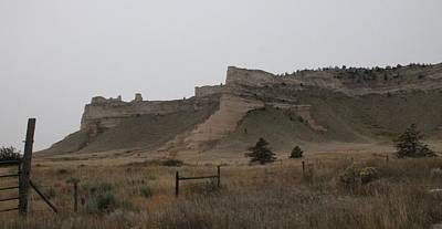 Poster featuring the photograph The Oregon Trail Scotts Bluff Nebraska by Christopher Kirby