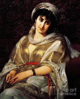 The Oriental Woman Poster by Michele Rapisardi