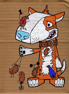 The Original Travelling Flea Circus Poster by Bizarre Bunny