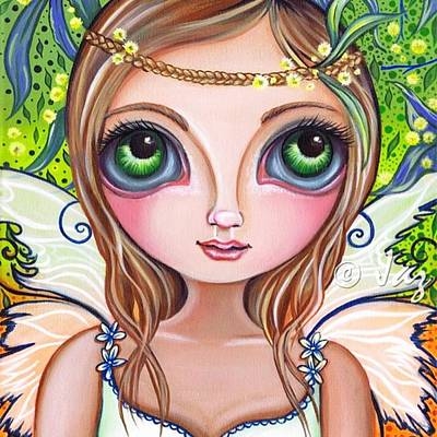 The Original wattle Fairy Painting Poster by Jaz Higgins