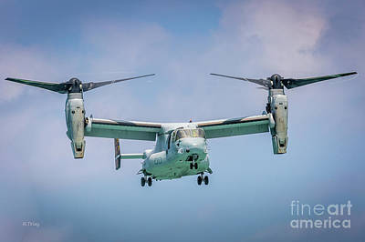 The Osprey V-22 Tiltrotor Hovering Poster by Rene Triay Photography