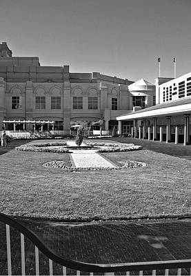 The Paddock In Black And White Poster by Marian Bell