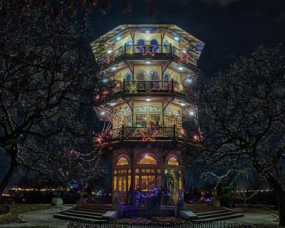 The Pagoda At Christmas Poster